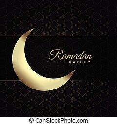 ramadan kareem background with moon