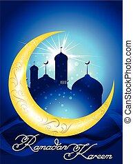 ramadan kareem background with mosk