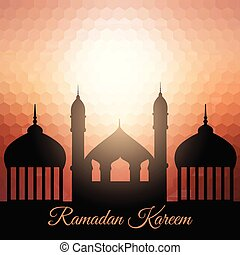 ramadan kareem background with mosque silhouette 1204