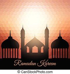 ramadan kareem background with mosque silhouette 1204