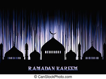 ramadan kareem background with mosque silhouettes 2504