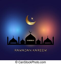 ramadan kareem background with mosque silhouettes 3003