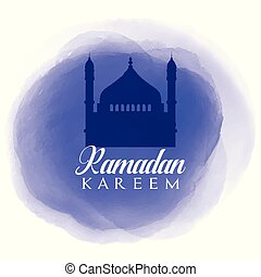 Ramadan Kareem background with watercolour texture