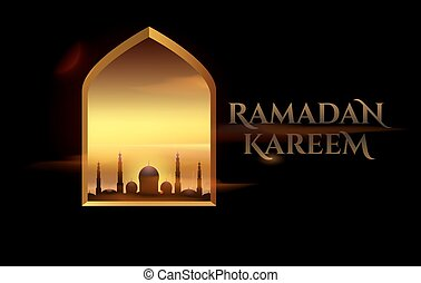Ramadan Kareem beautiful greeting card for holy month