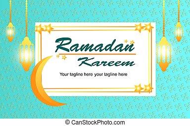 Ramadan Kareem beautiful greeting card template