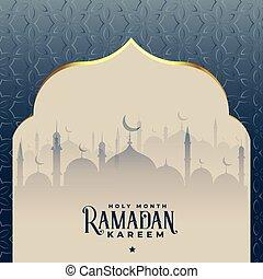 ramadan kareem beautiful islamic mosque background