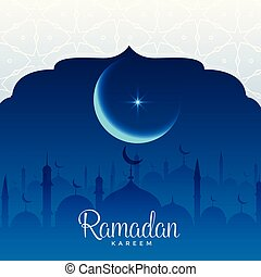 ramadan kareem beautiful mosque scene background