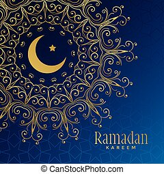 ramadan kareem beautiful ornamental background