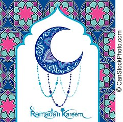 Ramadan Kareem card - A greeting card template Ramadan...