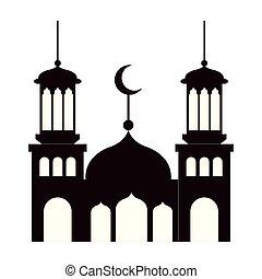 ramadan kareem castle silhouette