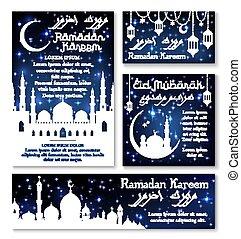 ramadan, kareem, celebração, bandeira, modelo, jogo