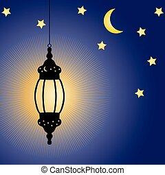 Ramadan Kareem celebration lamp