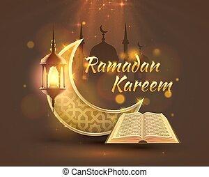 Ramadan Kareem cover, Arabic holiday, template design...