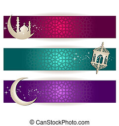Ramadan Kareem - Eid Mubarak  - Ramadan Banners