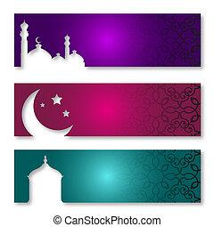 Ramadan Kareem - Eid Mubarak   - Islamic Greeting Card