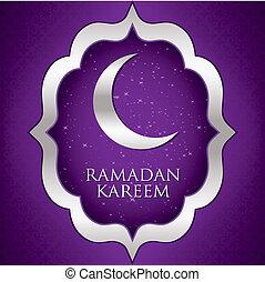 "Ramadan Kareem - ""Ramadan Kareem"" (Generous Ramadan) moon..."