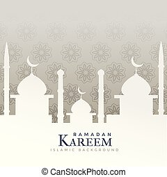 ramadan kareem festival design with mosque silhouette
