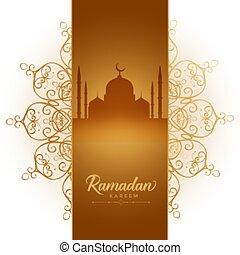 ramadan kareem festival elegant decorative background design