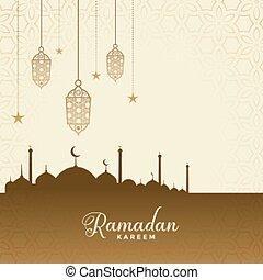 ramadan kareem festival wishes card background design