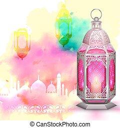 Ramadan Kareem (Generous Ramadan) background