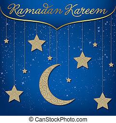 """""""Ramadan Kareem"""" (Generous Ramadan) card in vector format."""