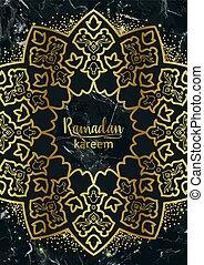 Ramadan Kareem Golden and Marble Holiday Template - Ramadan...