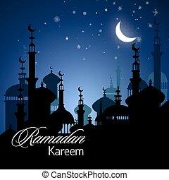 Ramadan Kareem greeting background