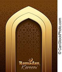 Ramadan Kareem. Greeting card for Ramadan