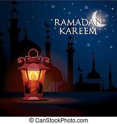 ramadan, kareem, gruß, hintergrund