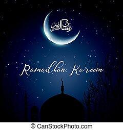 ramadan, kareem, hintergrund