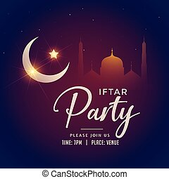 ramadan kareem iftar party background