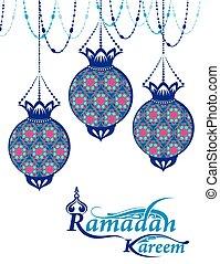 Ramadan Kareem illustration - Ramadan Kareem greeting with...