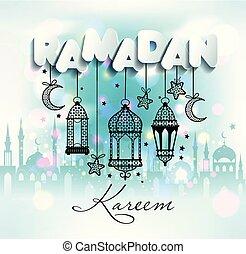 Ramadan Kareem. Islamic background.