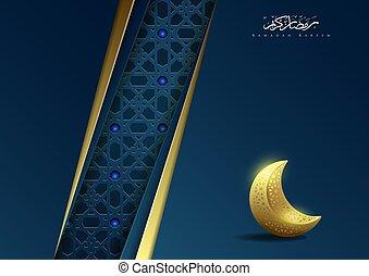 Ramadan kareem islamic background with moon