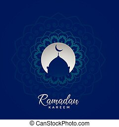 ramadan kareem islamic card design with mandala decoration