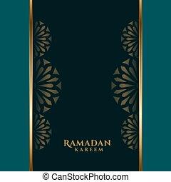 ramadan kareem islamic decorative background with text space