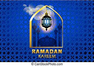 ramadan kareem Islamic design banner background template vector