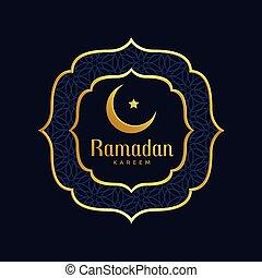 ramadan kareem islamic golden background