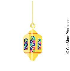 Ramadan Kareem lamp hanging