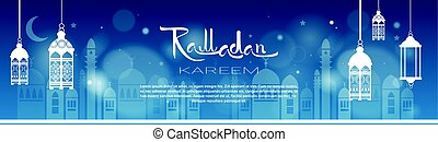 ramadan, kareem, muçulmano, religião, santissimo, mês