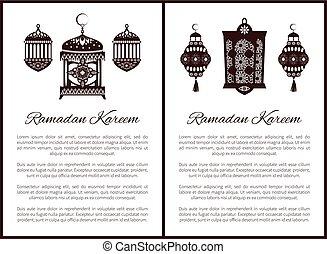 Ramadan Kareem Muslim Lantern Symbol of Holy Month
