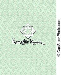 Ramadan Kareem. Muslim Pattern