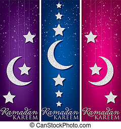 """Ramadan Kareem"" (Generous Ramadan) mobile card in vector format."