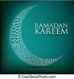 "Ramadan Kareem! - ""Ramadan Kareem"" (Generous Ramadan) moon ..."
