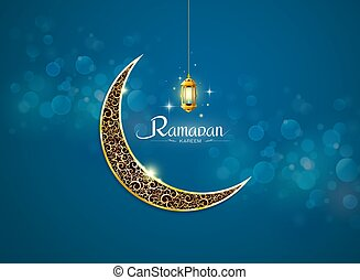 ramadan kareem, ramadhan with lamp no mesh object vector...
