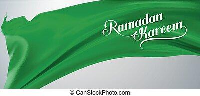 ramadan, kareem, retro, label.
