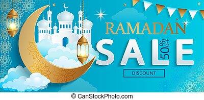 Ramadan Kareem sale Banner.