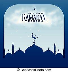 ramadan kareem season islamic mosque background