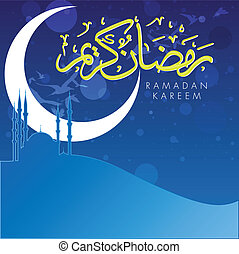 Ramadan Kareem - vector design for celebrating ramadan, the...