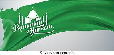 Ramadan Kareem retro label. - Ramadan Kareem. vector...